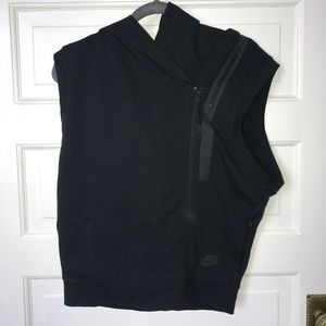 Nike - moto sweatshirt vest iwth hood